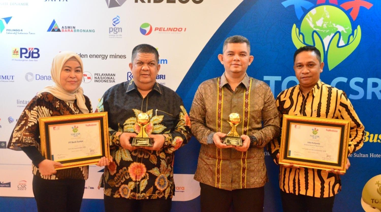 Bank Sumut Dianugerahi Dua Penghargaan pada Top CSR Award 2018
