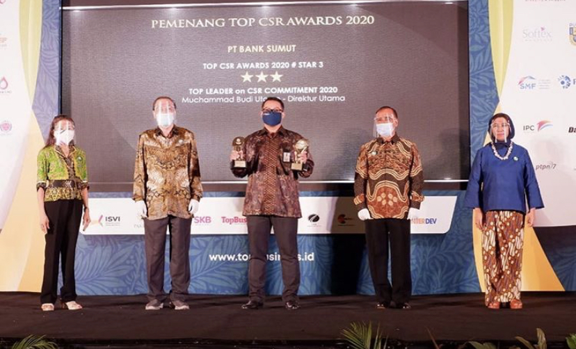 Pertahankan Kinerja di Tengah Pandemi, Bank Sumut Raih Best Bank Awards 2020