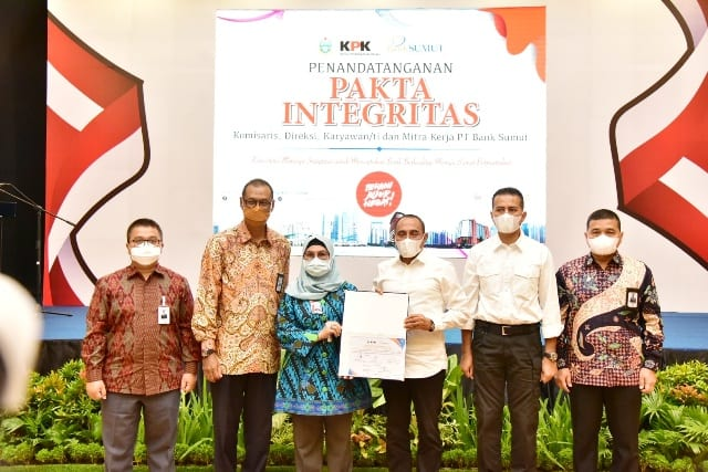 Cegah Korupsi, PT Bank Sumut lakukan Penandatanganan Pakta Integritas